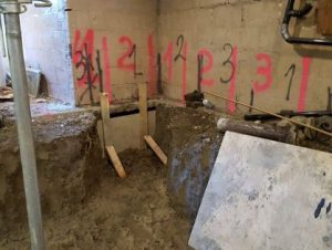 underpinning a basement near Sheffield ON